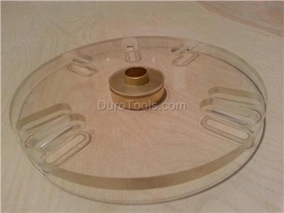how to use router template guide bushings - porter cable type template guide bushing router sub base