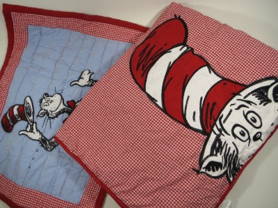 new pottery barn kid cat in the hat dr seuss nap mat preschool sleep bed sham. Black Bedroom Furniture Sets. Home Design Ideas
