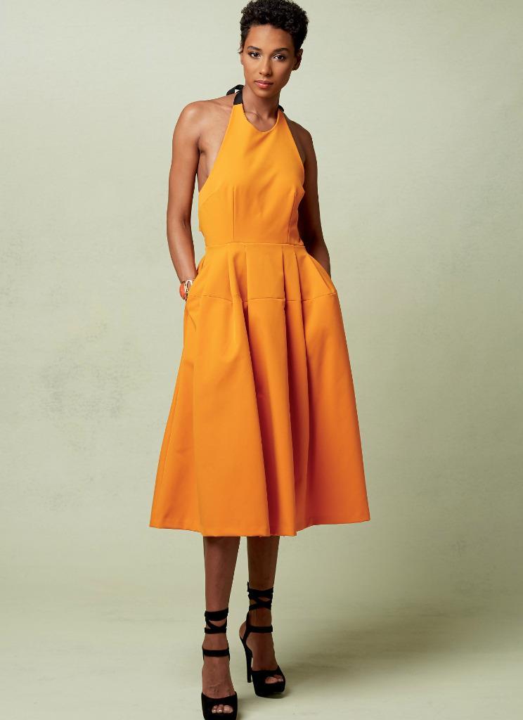 Vogue Nähmuster Rebecca Vallance Misses\' Neckholder Kleid 6 bis 22 ...