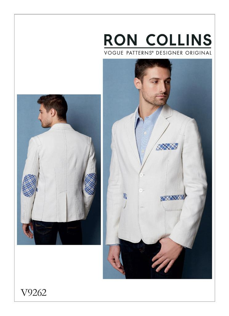VOGUE SEWING PATTERN RON COLLINS DESIGNED MENS JACKET SIZE 34 TO 46 ...