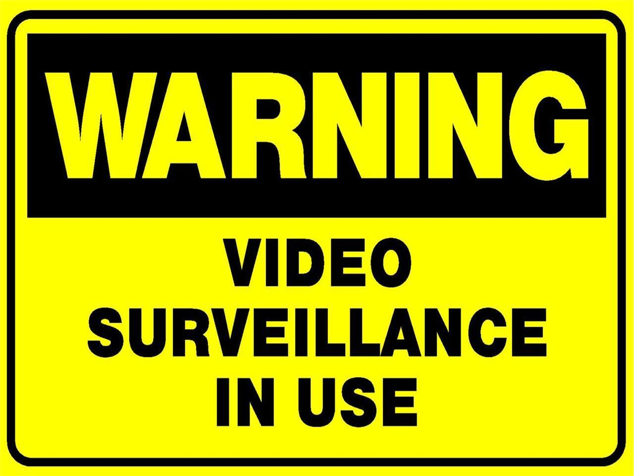 video surveillance cctv camera 300 x 225mm metal sign security caution sign ebay. Black Bedroom Furniture Sets. Home Design Ideas
