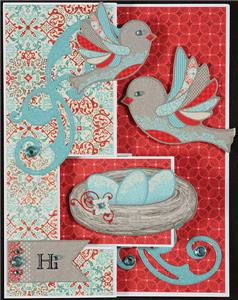 """Oval Swing Card Kit HOTP 5 Cards /& Envelopes 5/"""" x 6 1//2/"""" Pattern Project Idea"""