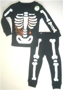 ef8080b8f Glow Dark Skeleton Black Size 2T Spider Web Carters Halloween 2 Pc ...