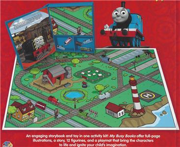 Thomas Train Amp Friends My Busy Books 12 Figurines Play Mat
