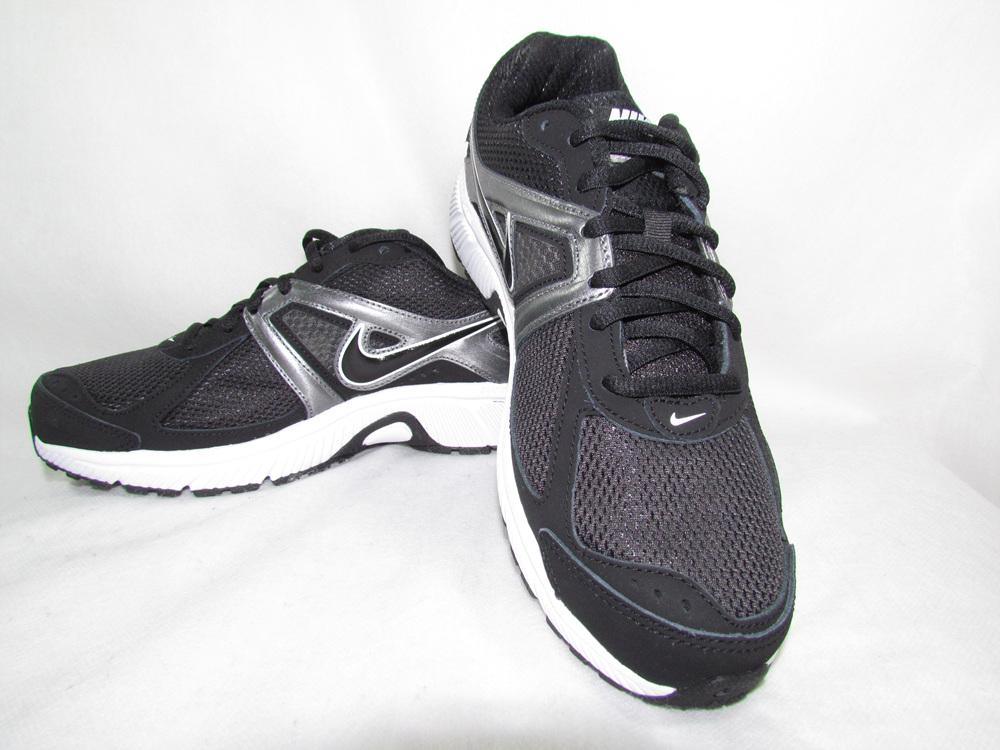 Nike Mens Black Mesh Athletic Running Sneakers Shoes Dart