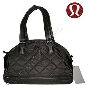 Lululemon Nwt Still Groovy Gym Bag Black Quilted Hot Free