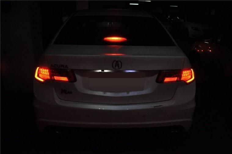 Attractive Flashing Strobe Red Brake Tail LED Lights For 2011 2017 Honda Accord