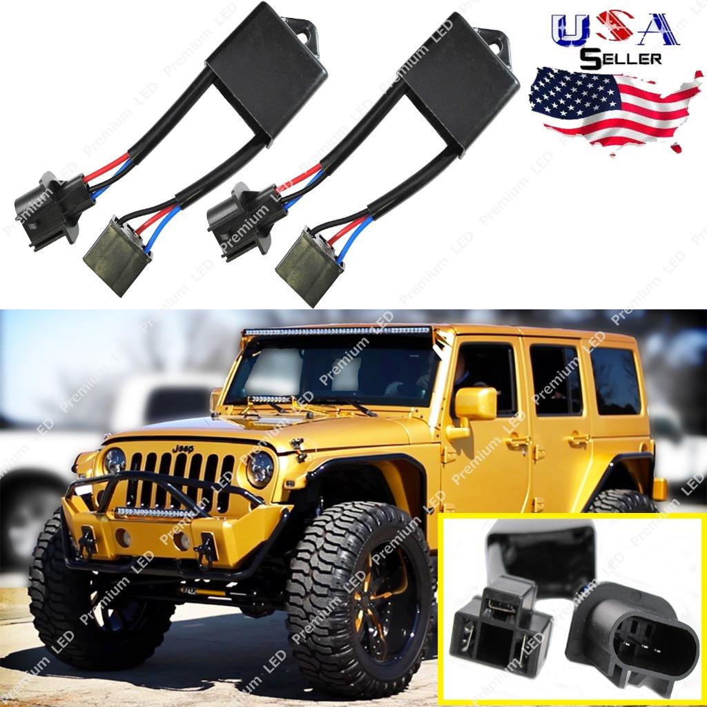H4 To H13 Jeep Wrangler Jk Anti Flicker Decoders For Any 7