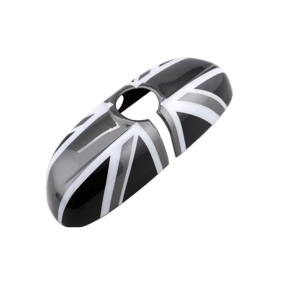 MINI Genuine Inside Rear View Mirror Cap Cover Black Jack Design 51162353711