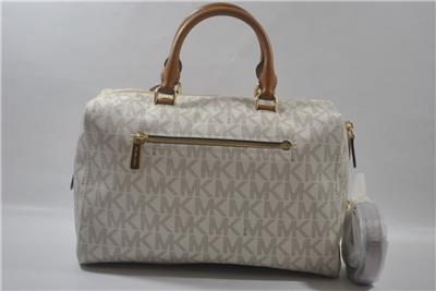 cbe97e8ddef New With Tag Michael Kors KIRBY Large Satchel Purse - Vanilla   eBay