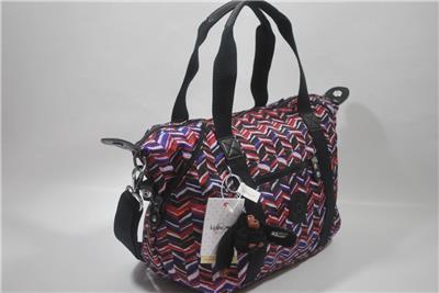 807f839c57 New With Tag Kipling ART U SMALL PRINT TOTE BAG HB6981 6DS - DASHING STRIPES