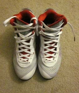 d3d315b02217 Nike Lebron James VIII 8 (v2) White Grey Varsity Red on PopScreen