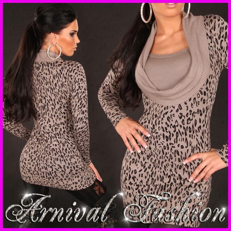 Leopard fetish dress