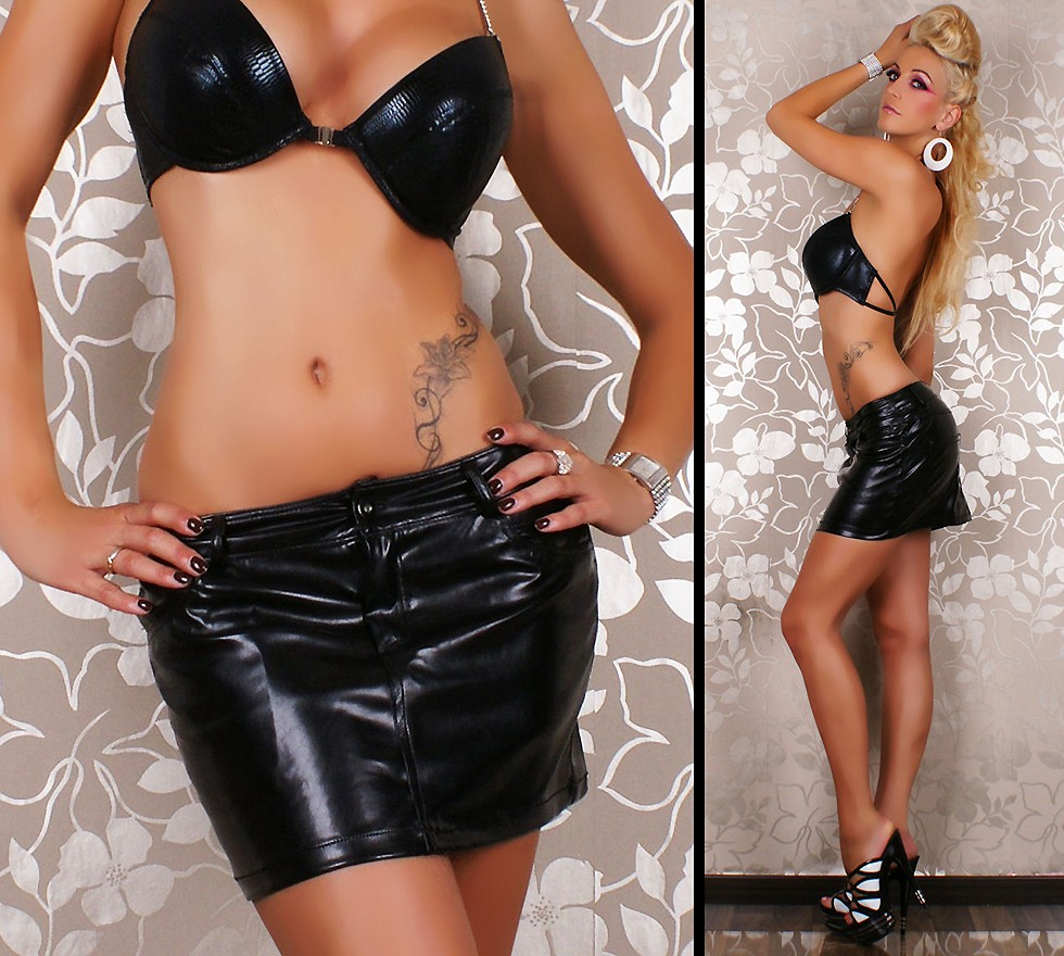leather mini skirts Sexy