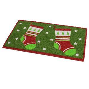 weihnachten neuheit designs 100 kokosfaser fu matte boden eingang weihnachten ebay. Black Bedroom Furniture Sets. Home Design Ideas