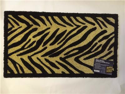 Large Zebra Leopard Paw Animal Print Entrance In Out Door
