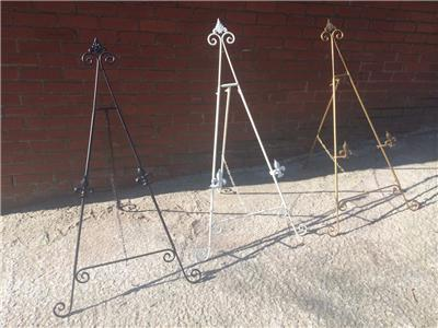 White Gold Silver Black 48 Quot 4ft Iron Easel Display Picture Wedding Menu Stand Ebay