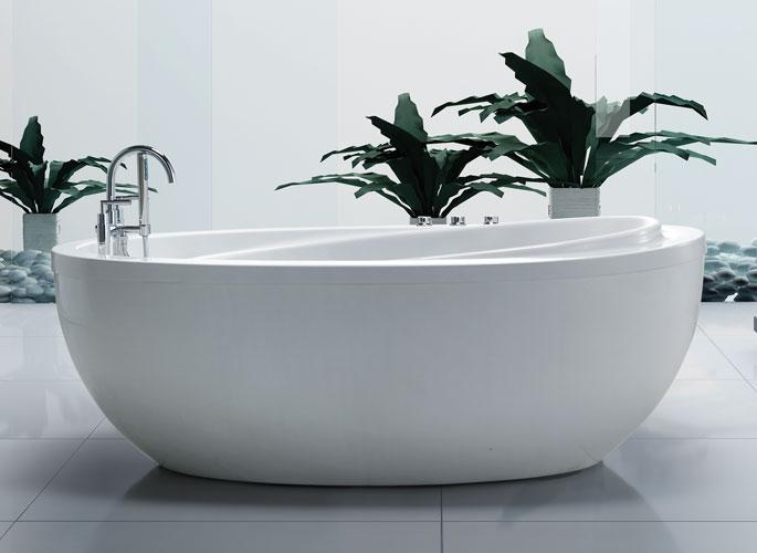 38x71 Freestanding Whirlpool Jetted Bathtub W Air Therapy