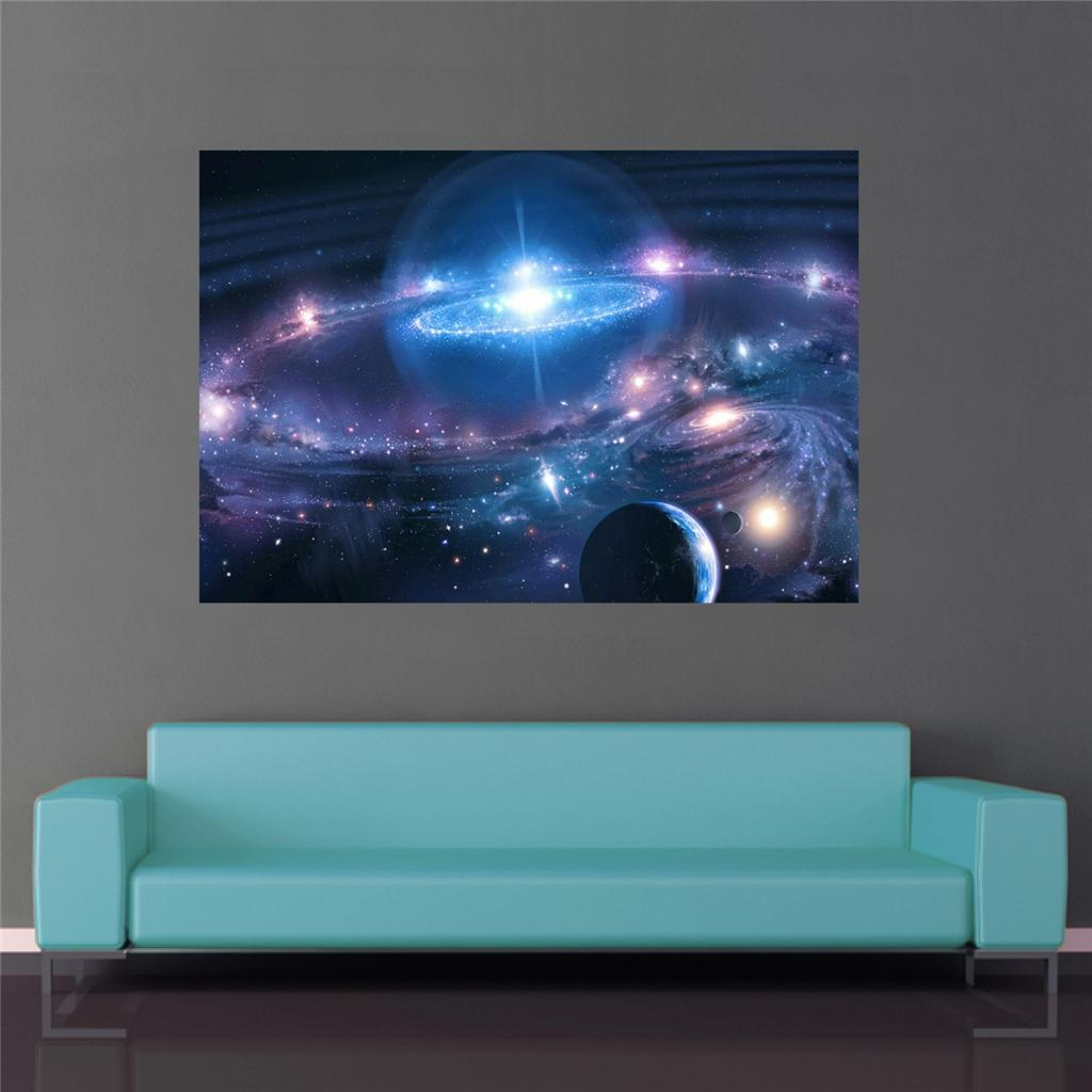 Glow In The Dark Wall Murals Space Poster Universe Milky Way Galaxy Wall Art Gi 670 Ebay