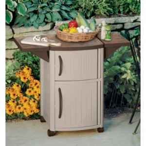 Outdoor Prep Station For Patio Barbeque Grilling Storage