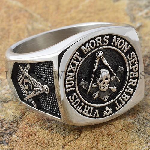 Scottish Rite Mens Masonic Ring Skull Amp Bones Square Mason