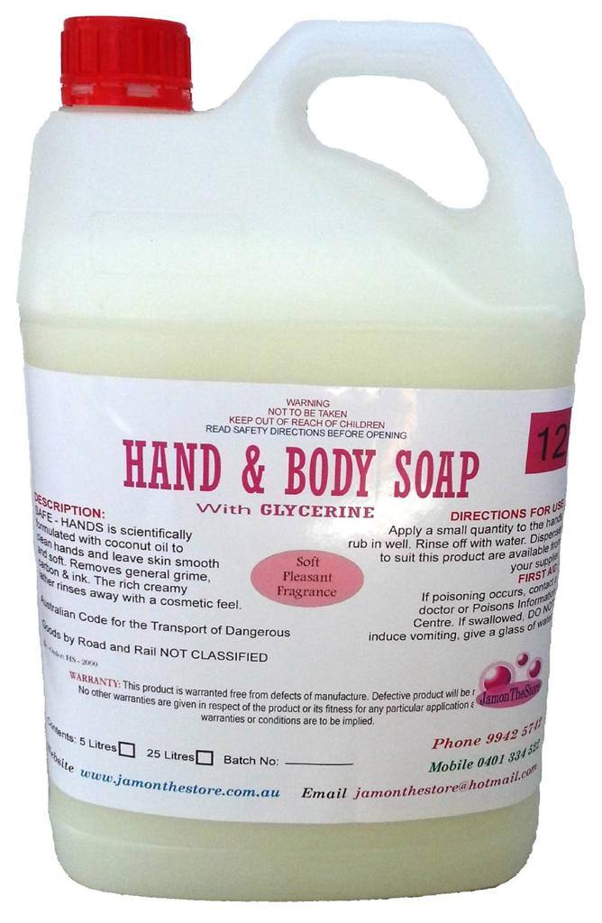 Hand Amp Body Soap Liquid With Glycerine Rose Perfume