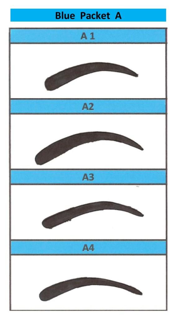 printable eyebrow stencil template - eyebrow stencils