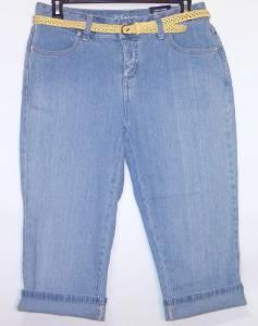 0bc40cc79 Details about NWT St John s Bay Secretly Slender Comfort Waist Stretch Capri  Jeans 4P Belted