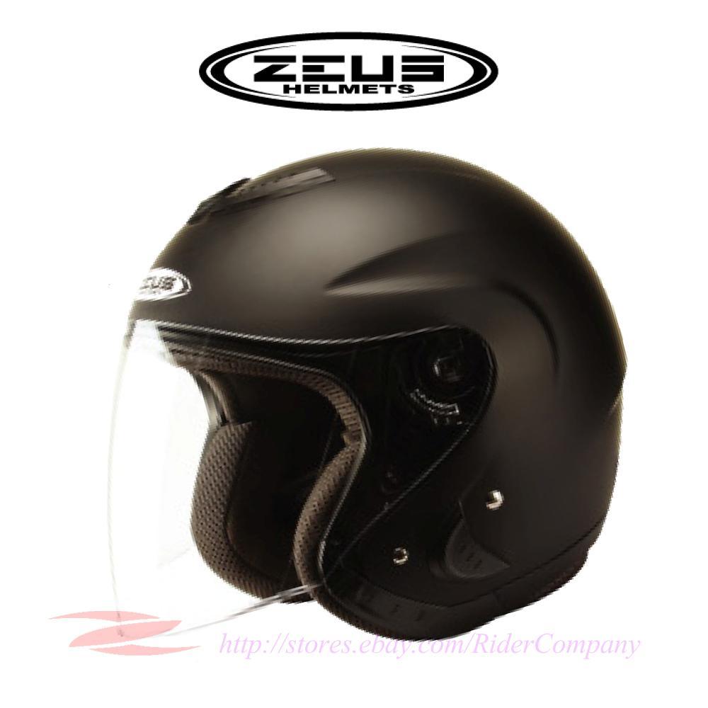 Zeus Zs 607 Motorcycle Scooter Helmet Jet Pilot Style Dot