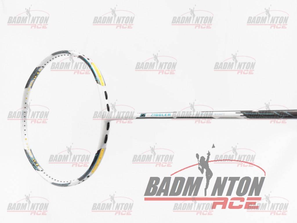 ZIGGLER WHITE Badminton Racket Free String & Grip