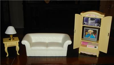 Pleasing Details About Barbie 1996 Furniture Lot Living Room Folding Pretty House Guc Machost Co Dining Chair Design Ideas Machostcouk