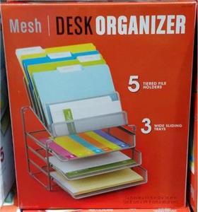 Description You Are Bidding On This Seville Mesh Desk Organizer