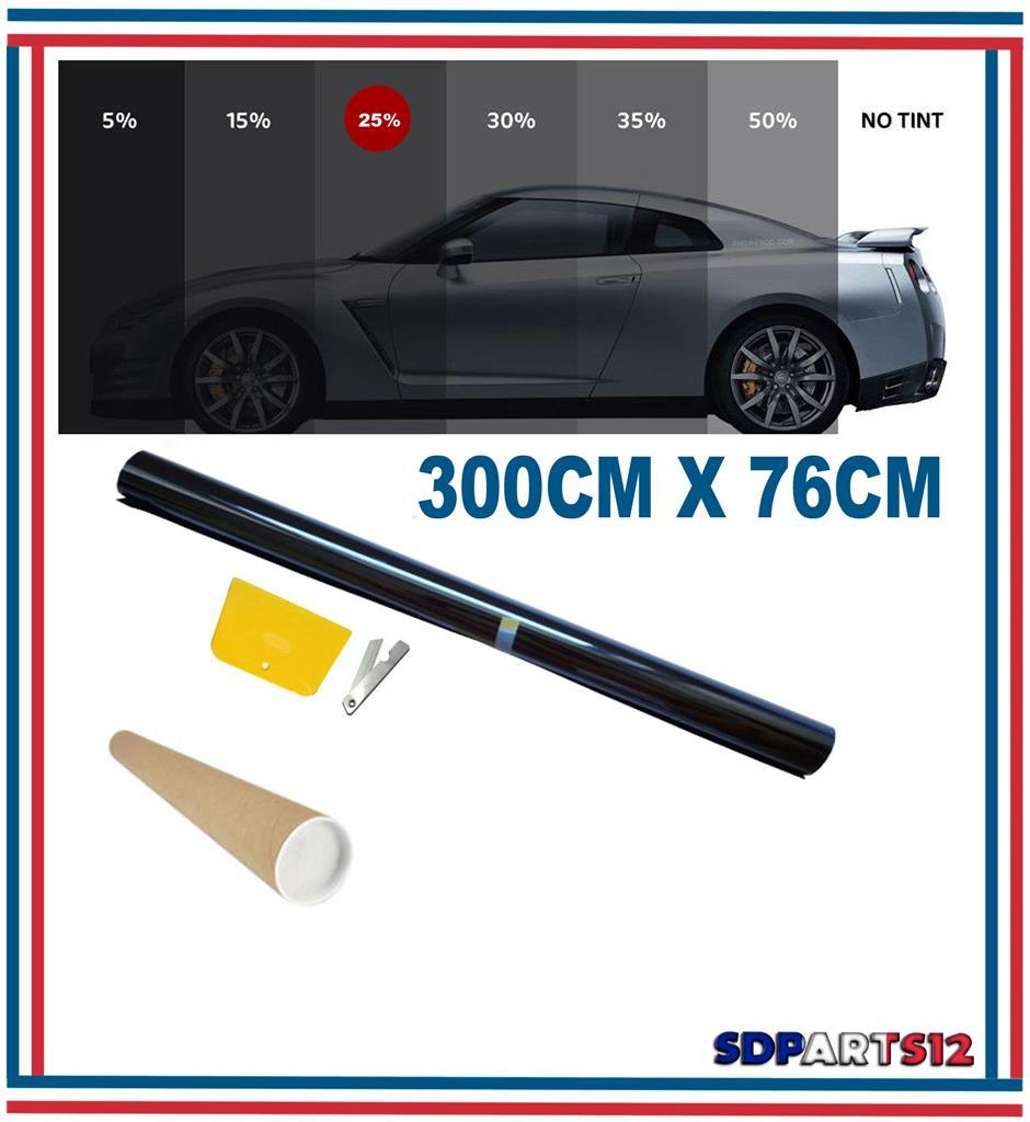 300cm x 76cm film teinte solaire noir vitre fen tre velux voiture batiment 25 ebay. Black Bedroom Furniture Sets. Home Design Ideas