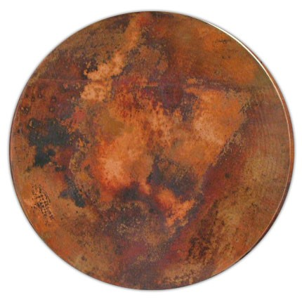 24 Quot Hammered Copper Table Tops Square Round Tabletop Ebay