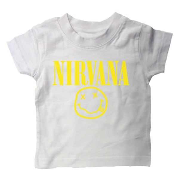 407a5c39e Baby T Shirt Nirvana Rock Music Funny Punk Slogan Kids on PopScreen