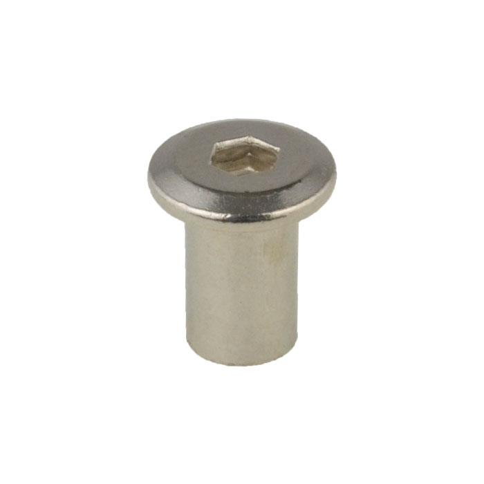 Details about Furniture Nut M8 (8mm) x 15mm Connector JCB Cross Dowel  Nickel Plated