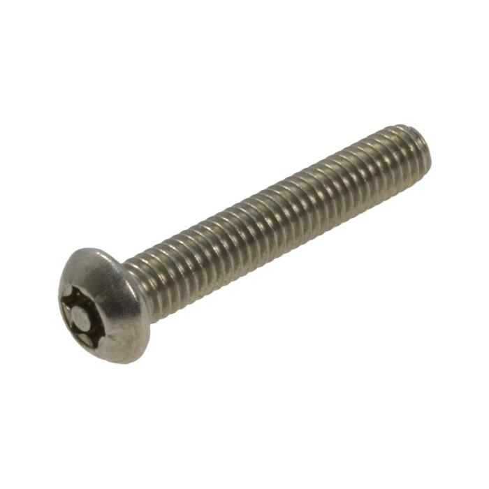 Qty 10 Button Post Torx M6 x 16mm Stainless T30 Security Screw Tamperproof 304