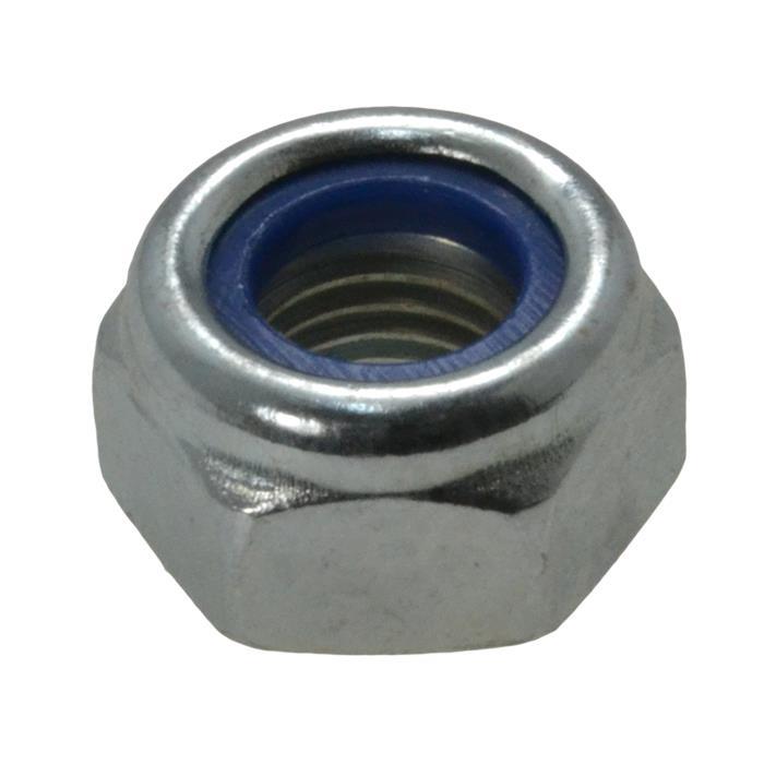 M10 x 1.25mm Metric Fine Nyloc Nut 10 Pack