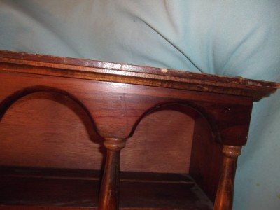 Vintage Wood Wall Shelf Arches Columns Miniatures Salt