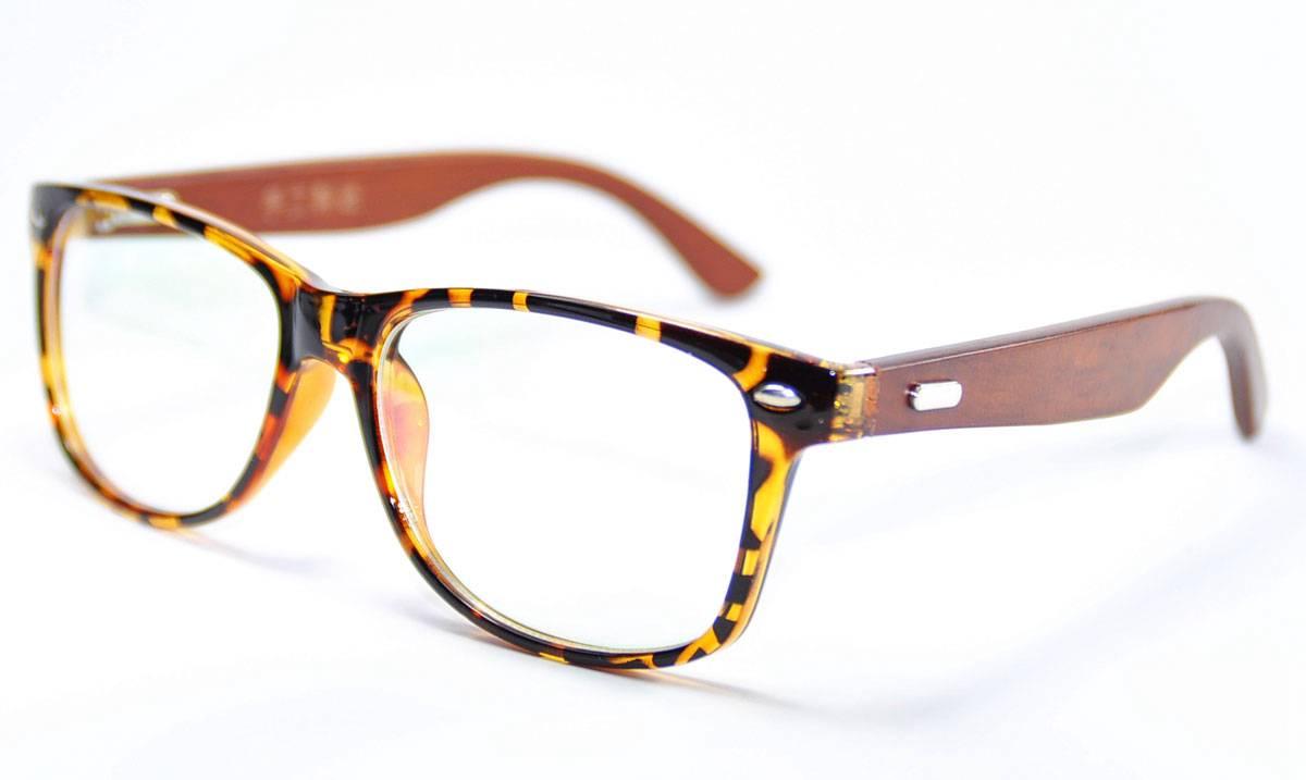 Fashion Mens Wooden Glasses Frame Oversized Eyeglasses ...