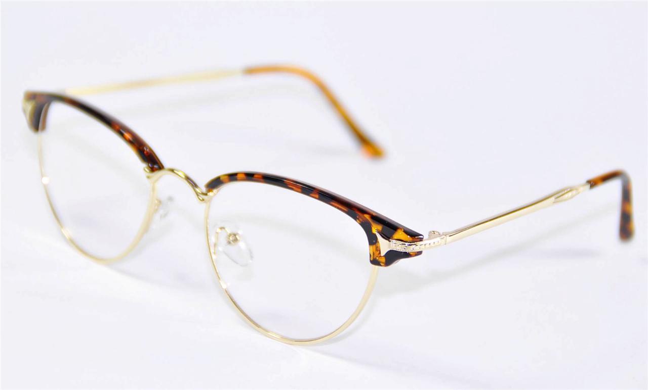 Vintage Retro Womens Girl Cat Eye Glasses Frames Eyewear