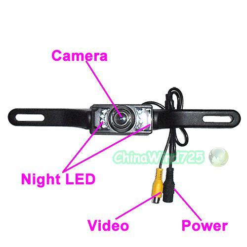 TFT LCD Mirror Color Car Monitor +Car Rear view Camera System