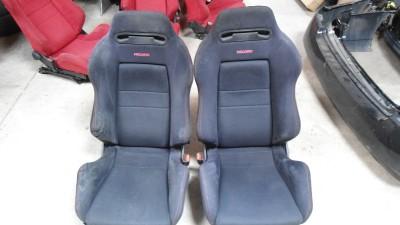 94 01 Honda Acura Integra Type R DC2 DB8 Black Recaro Front Seats