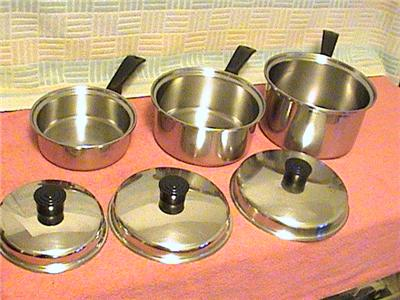 lustre craft cookware lustre craft stainless steel pots and pans lot 17 2366