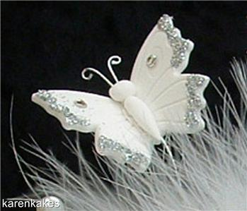 feather wedding cake toppers white butterfly feather cake topper wedding birthday ebay 14222