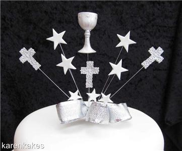 Silver Chalice Cake Topper