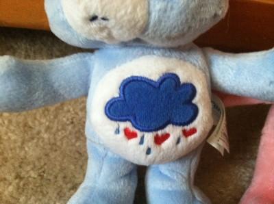"""2002 Care Bear 7"""" Set Plush Grumpy Cheer Bear"""