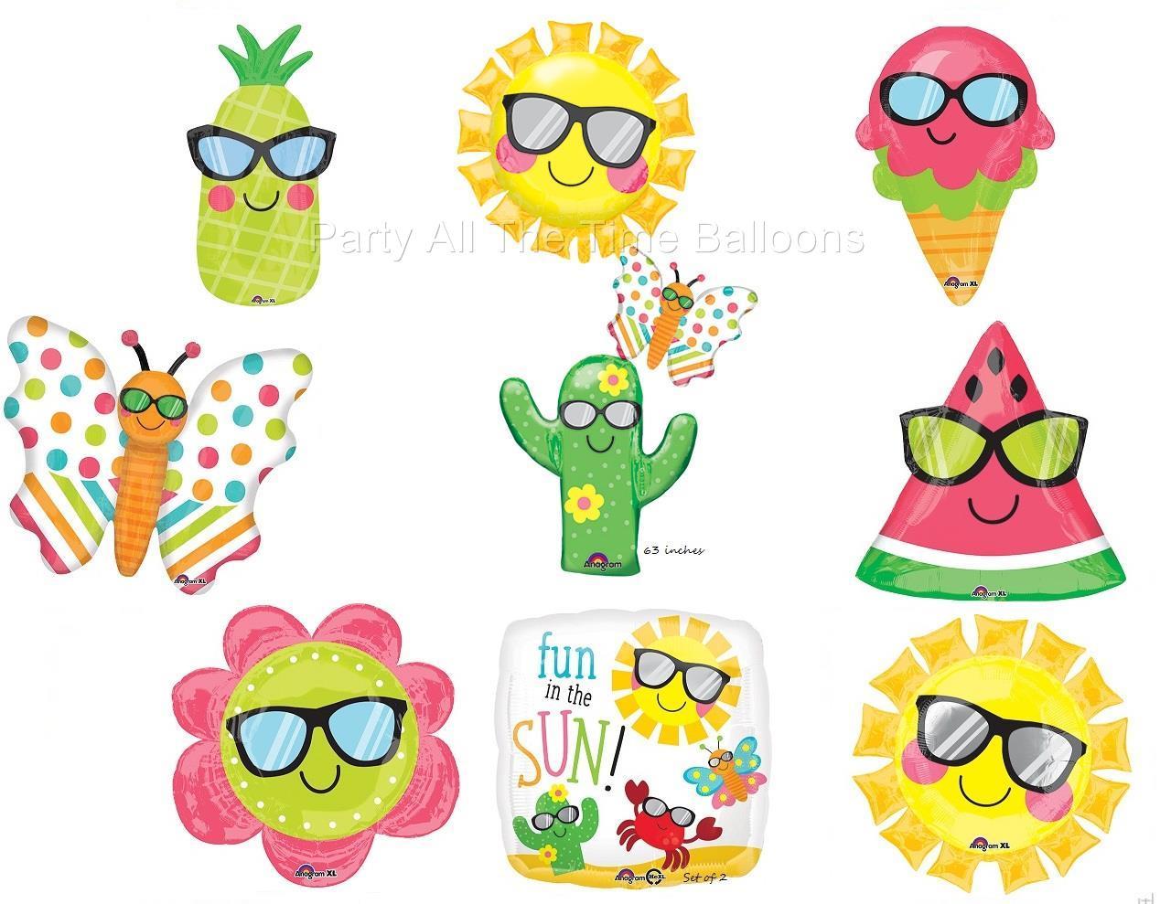 Fun In The Sun Balloons Ur Choice Sunglasses Icecream