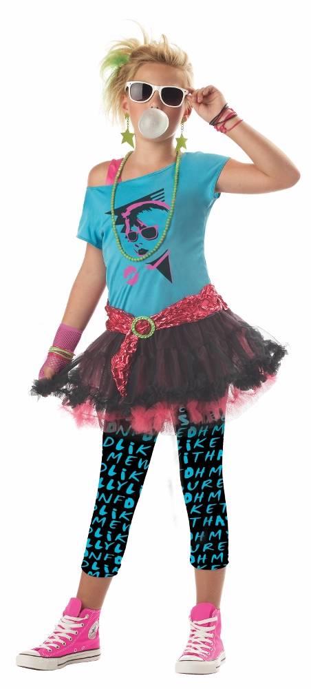 Kids Girls 1980s 80's Valley Girl Costume | eBay80s Clothes Kids