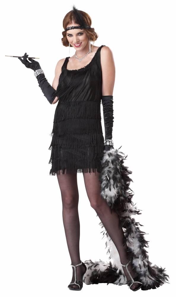 Womens 1920s Black Flapper Costume | Ladies 1920's 20s ...